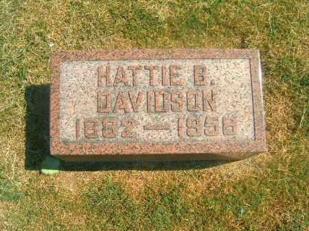 DAVIDSON, HATTIE  B - Brown County, Ohio | HATTIE  B DAVIDSON - Ohio Gravestone Photos