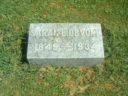 DEVORE, SARAH   L - Brown County, Ohio | SARAH   L DEVORE - Ohio Gravestone Photos