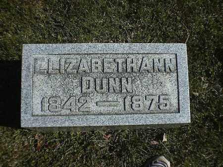DUNN, ELIZABETH  ANN - Brown County, Ohio   ELIZABETH  ANN DUNN - Ohio Gravestone Photos