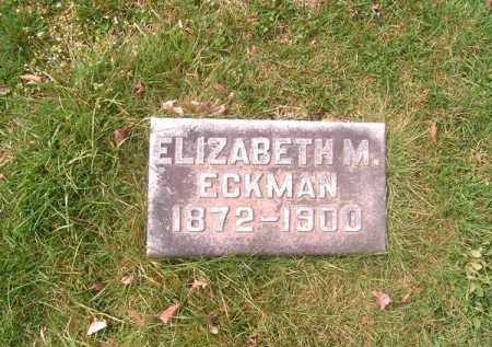 ECKMAN, ELIZABETH   M - Brown County, Ohio | ELIZABETH   M ECKMAN - Ohio Gravestone Photos