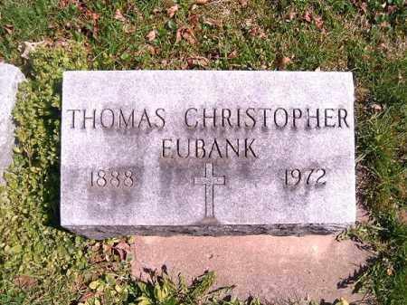 CHRISTOPHER EUBANK, THOMAS - Brown County, Ohio | THOMAS CHRISTOPHER EUBANK - Ohio Gravestone Photos