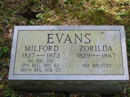 EVANS, MILFORD - Brown County, Ohio | MILFORD EVANS - Ohio Gravestone Photos