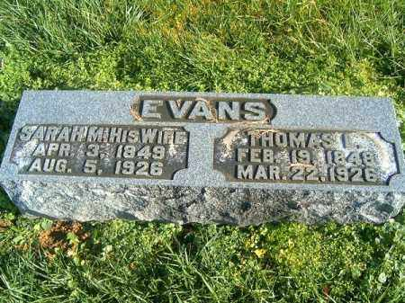 EVANS, SARAH  M - Brown County, Ohio   SARAH  M EVANS - Ohio Gravestone Photos