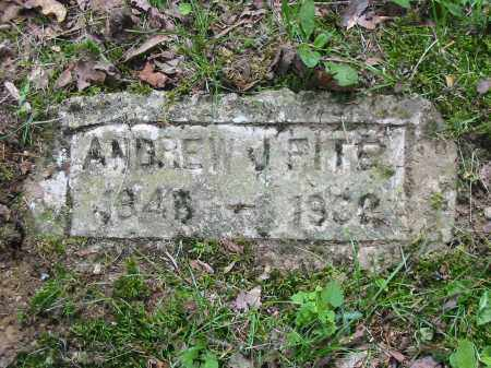 FITE, ANDREW J - Brown County, Ohio | ANDREW J FITE - Ohio Gravestone Photos