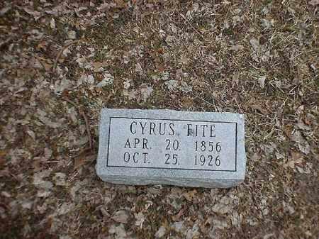 FITE, CYRUS - Brown County, Ohio | CYRUS FITE - Ohio Gravestone Photos