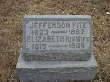 FITE, ELIZABETH - Brown County, Ohio | ELIZABETH FITE - Ohio Gravestone Photos