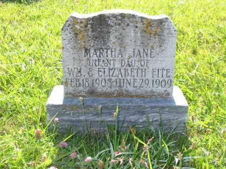 FITE, MARTHA JANE - Brown County, Ohio   MARTHA JANE FITE - Ohio Gravestone Photos