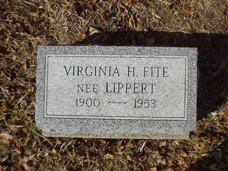FITE, VIRGINIA H - Brown County, Ohio | VIRGINIA H FITE - Ohio Gravestone Photos