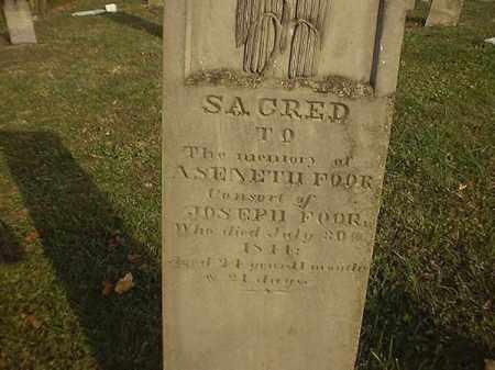 FOOR, ASANETH - Brown County, Ohio   ASANETH FOOR - Ohio Gravestone Photos