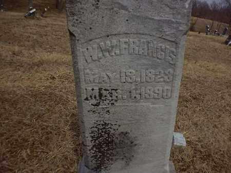 FRANCIS, W W - Brown County, Ohio | W W FRANCIS - Ohio Gravestone Photos