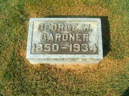 GARDNER, GEORGE  W - Brown County, Ohio | GEORGE  W GARDNER - Ohio Gravestone Photos