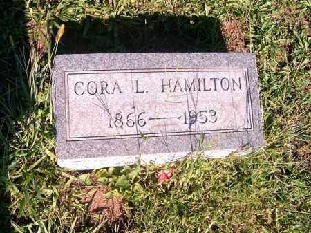 HAMILTON, CORA  L - Brown County, Ohio | CORA  L HAMILTON - Ohio Gravestone Photos