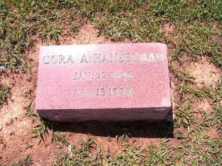 HANSELMAN, CORA  A - Brown County, Ohio   CORA  A HANSELMAN - Ohio Gravestone Photos