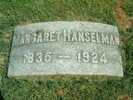 HANSELMAN, MARGARET - Brown County, Ohio   MARGARET HANSELMAN - Ohio Gravestone Photos
