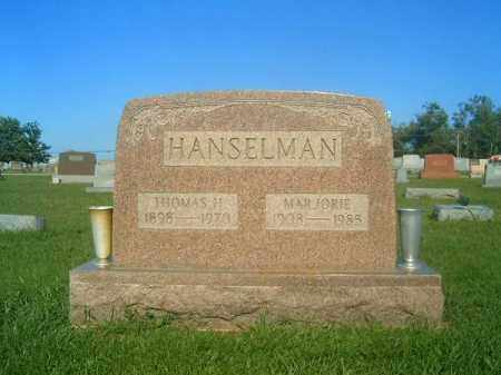 HANSELMAN, THOMAS  H - Brown County, Ohio | THOMAS  H HANSELMAN - Ohio Gravestone Photos