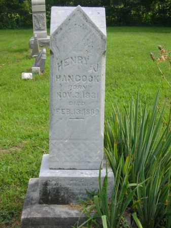 HENRY J, HANCOCK - Brown County, Ohio | HANCOCK HENRY J - Ohio Gravestone Photos