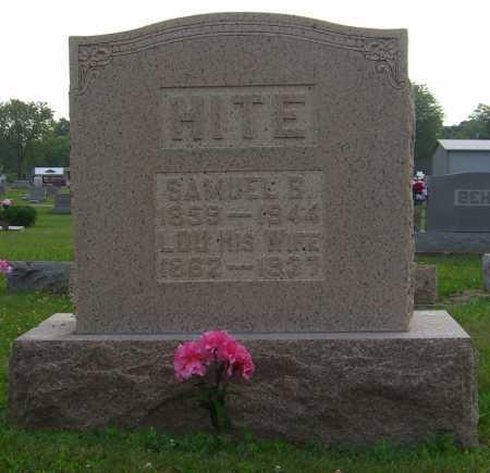 HITE, LUCINDA - Brown County, Ohio | LUCINDA HITE - Ohio Gravestone Photos