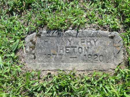 IRETON, FANNY - Brown County, Ohio | FANNY IRETON - Ohio Gravestone Photos