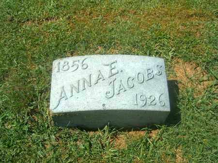 JACOBS, ANNA  E - Brown County, Ohio   ANNA  E JACOBS - Ohio Gravestone Photos