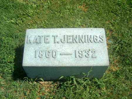 JENNINGS, KATE  T - Brown County, Ohio   KATE  T JENNINGS - Ohio Gravestone Photos