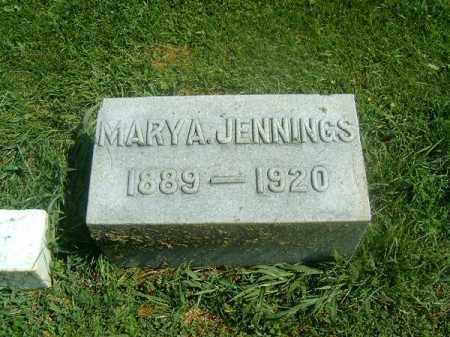 JENNINGS, MARY  A - Brown County, Ohio   MARY  A JENNINGS - Ohio Gravestone Photos