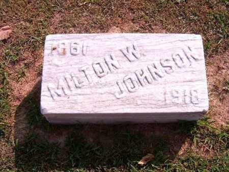 JOHNSON, MILTON   W - Brown County, Ohio | MILTON   W JOHNSON - Ohio Gravestone Photos