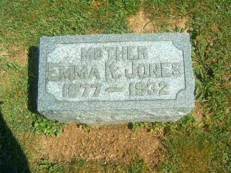 JONES, EMMA  J - Brown County, Ohio | EMMA  J JONES - Ohio Gravestone Photos