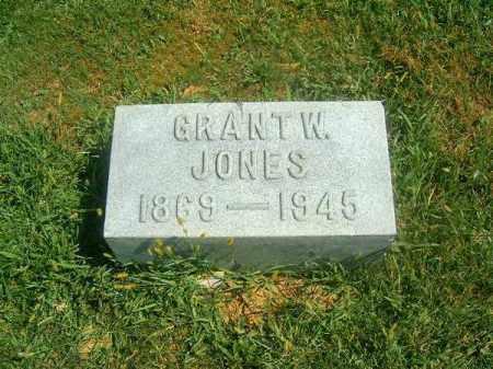 JONES, GRANT   W - Brown County, Ohio   GRANT   W JONES - Ohio Gravestone Photos