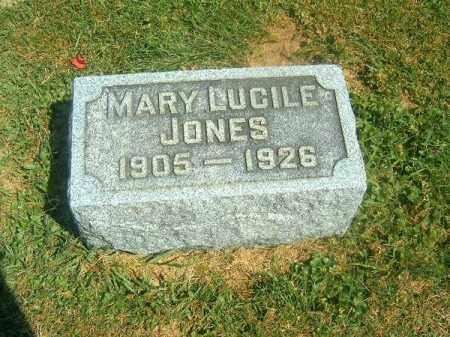 JONES, MARY LUCILE - Brown County, Ohio | MARY LUCILE JONES - Ohio Gravestone Photos