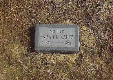 KAUTZ, SARAH  L - Brown County, Ohio | SARAH  L KAUTZ - Ohio Gravestone Photos