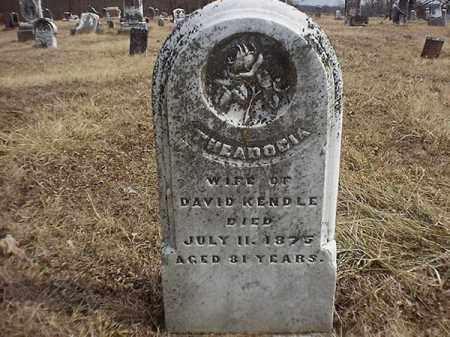 KENDAL, THEADOCIA - Brown County, Ohio   THEADOCIA KENDAL - Ohio Gravestone Photos