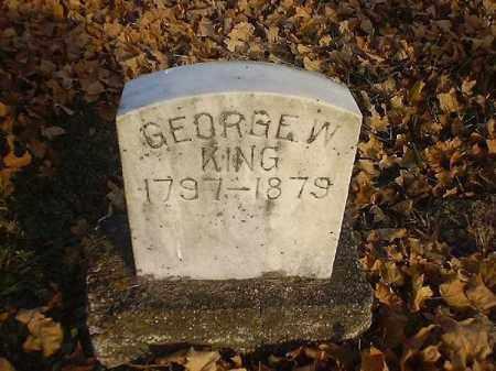 KING, GEORGE  W - Brown County, Ohio   GEORGE  W KING - Ohio Gravestone Photos