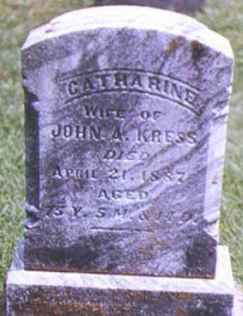 KRESS, CATHARINE - Brown County, Ohio | CATHARINE KRESS - Ohio Gravestone Photos