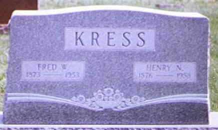 KRESS, FRED - Brown County, Ohio | FRED KRESS - Ohio Gravestone Photos