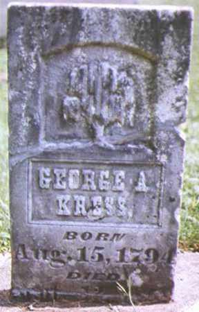 KRESS, GEORGE - Brown County, Ohio | GEORGE KRESS - Ohio Gravestone Photos