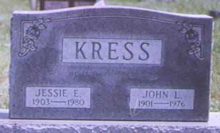 MILLER KRESS, JESSIE - Brown County, Ohio | JESSIE MILLER KRESS - Ohio Gravestone Photos