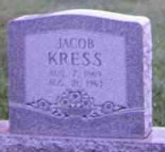 KRESS, JACOB - Brown County, Ohio | JACOB KRESS - Ohio Gravestone Photos
