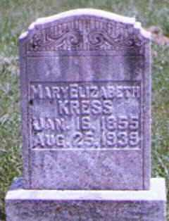 KRESS, MARY - Brown County, Ohio | MARY KRESS - Ohio Gravestone Photos