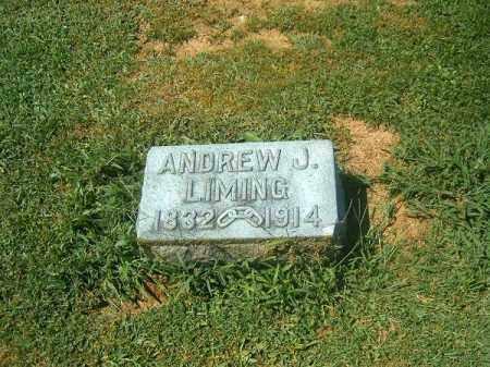 LIMING, ANDREW  J - Brown County, Ohio   ANDREW  J LIMING - Ohio Gravestone Photos