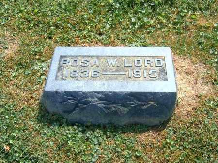 LORD, ROSA  W - Brown County, Ohio   ROSA  W LORD - Ohio Gravestone Photos