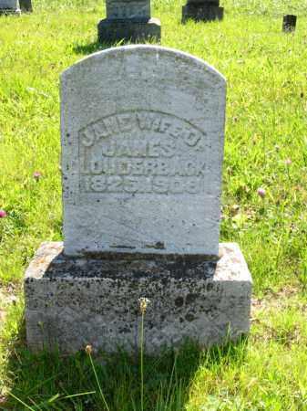 MCCOLGIN LOUDERBACK, JANE - Brown County, Ohio | JANE MCCOLGIN LOUDERBACK - Ohio Gravestone Photos