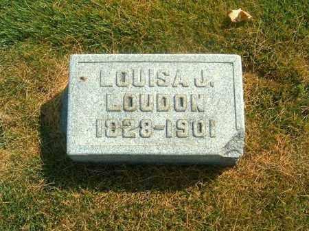 LOUDON, LOUISA   J - Brown County, Ohio   LOUISA   J LOUDON - Ohio Gravestone Photos