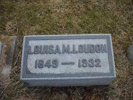 LOUDON, LOUISA  M - Brown County, Ohio | LOUISA  M LOUDON - Ohio Gravestone Photos