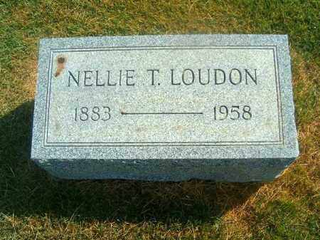 LOUDON, NELLIE  T - Brown County, Ohio | NELLIE  T LOUDON - Ohio Gravestone Photos