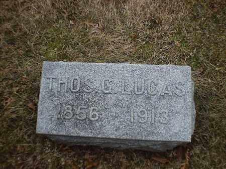 LUCAS, THOS  G - Brown County, Ohio | THOS  G LUCAS - Ohio Gravestone Photos