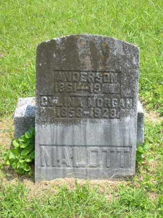MALOTT, ANDERSON - Brown County, Ohio | ANDERSON MALOTT - Ohio Gravestone Photos
