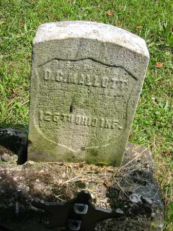 MALOTT, DELUS C - Brown County, Ohio | DELUS C MALOTT - Ohio Gravestone Photos