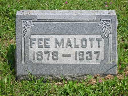 MALOTT, FEE - Brown County, Ohio   FEE MALOTT - Ohio Gravestone Photos