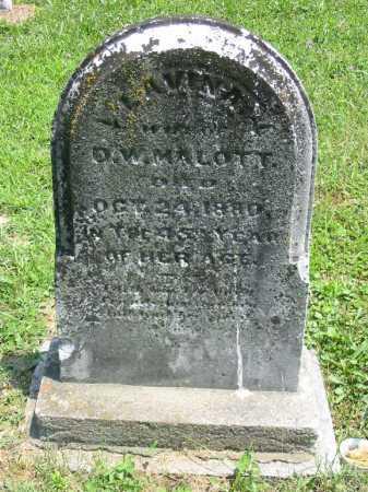 MALOTT, LAVINA - Brown County, Ohio   LAVINA MALOTT - Ohio Gravestone Photos
