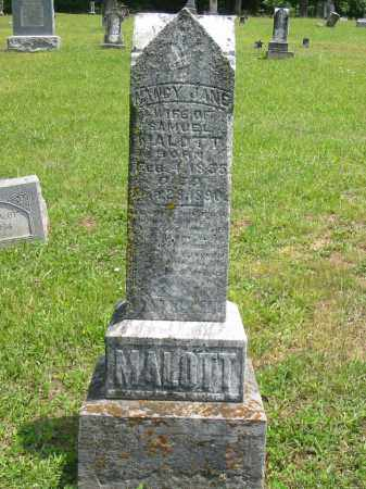 MALOTT, NANCY JANE - Brown County, Ohio | NANCY JANE MALOTT - Ohio Gravestone Photos